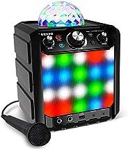 ION Audio Party Rocker Effects – Portable Bluetooth Speaker / Karaoke Machine with Karaoke Microphone, Battery