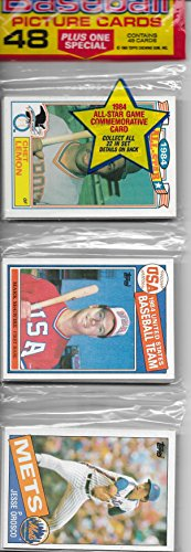 1985 Topps Baseball Rack Pack WIth Mark McGwire Rookie Showing On Top