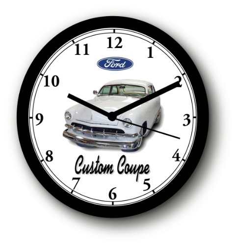 (1950 FORD 2-DOOR CUSTOM COUPE WALL CLOCK-Free USA Ship)