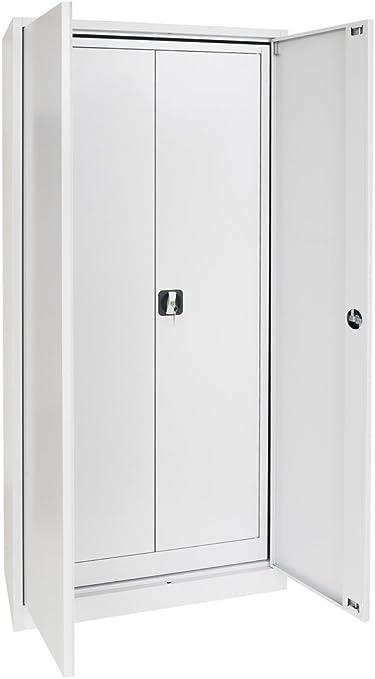 Juego de armario Acero Con puertas correderas prosteel GS. Acero Armario Armario – Gris: Amazon.es: Oficina y papelería
