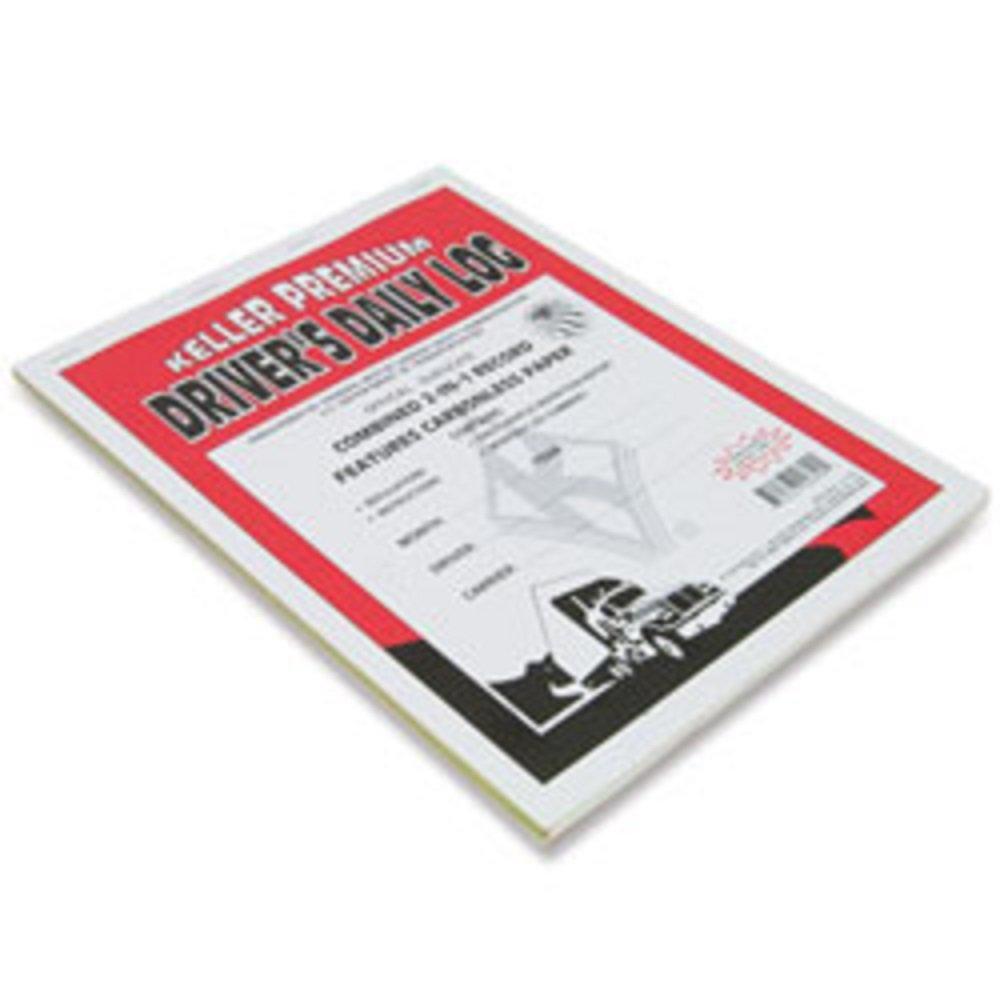 JJ. Keller-2-In-1 Driver's Daily Log Book with Detailed DVIR, Carbonless 48 pack