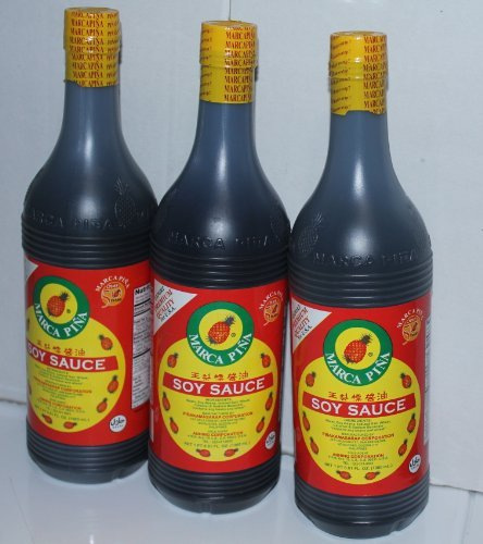 Marca Pina Soy Sauce Pack of Three 1000ml Per Bottle