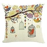 Etaovip Polyester Decorative Faux Linen Look Hand Made Throw Pillow Cover Cushion PillowCase ( 20*20 )