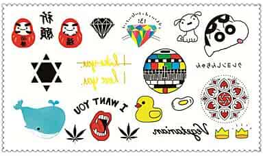 aefbf2acf6fdf Fashion Temporary Tattoos Crayon Shin Chan Sexy Body Art Waterproof Tattoo  Stickers 5PCS (Size: