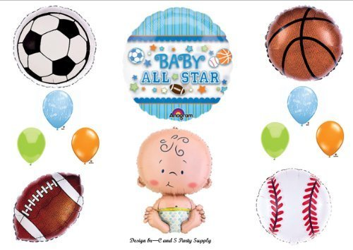 (It's A Boy Baby Shower All Star Sports Balloons Decorations Supplies by)