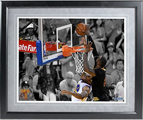 Framed Photo 16x20 (2016 NBA Champion Cleveland Cavaliers Lebron James Block 16x20 Framed Photo)