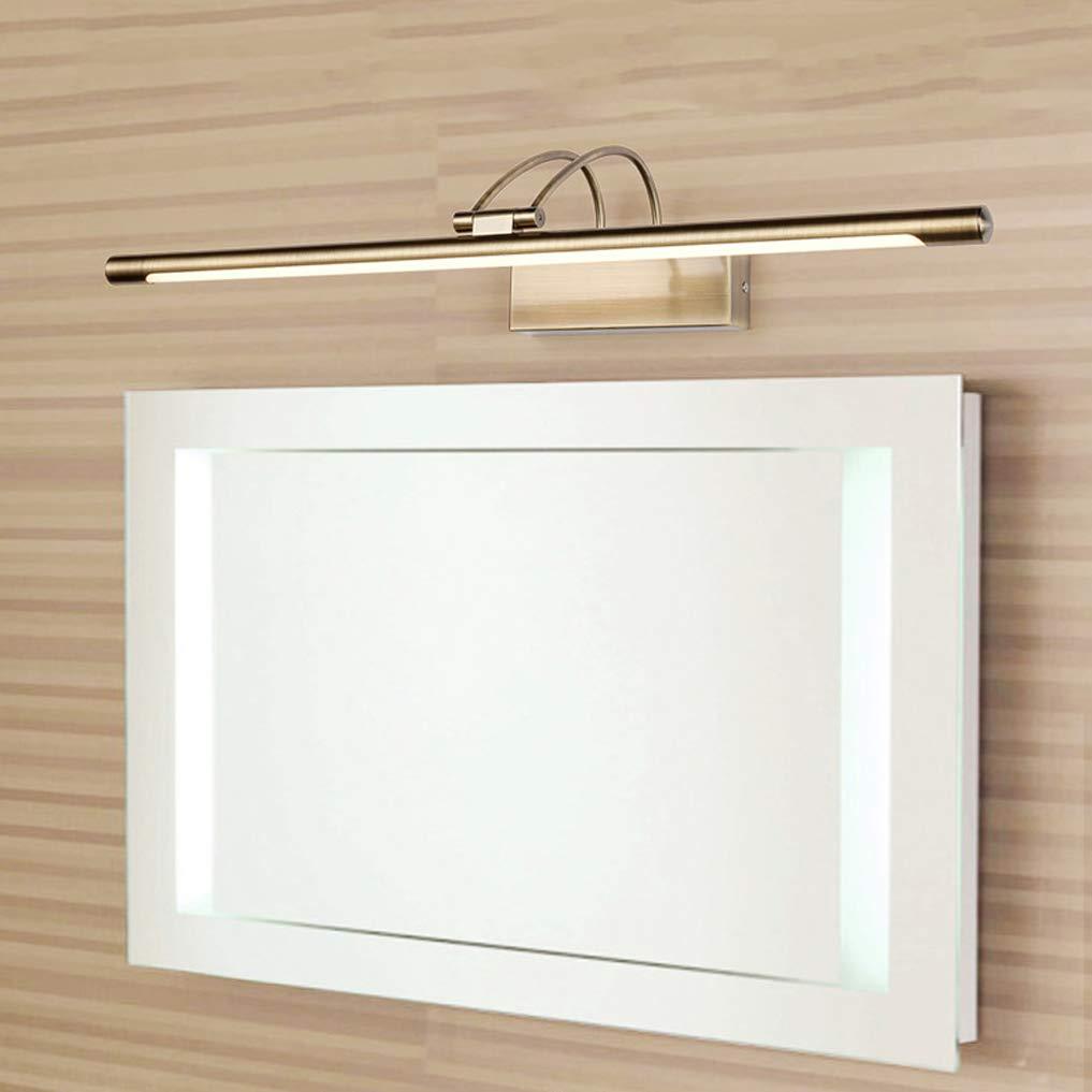Lampara Ba/ño Luz Armario Luces para Espejos de Maquillaje Hierro Forjado Aplique Impermeable Armario con Espejo L/ámpara para Ba/ño Armario Pared,CoolWhite55cm12WBronze L/ámpara de Espejo LED