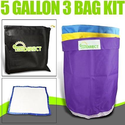 Amazon.com: Burbuja Hash bolsas bolsa de hielo Extractor 5 ...