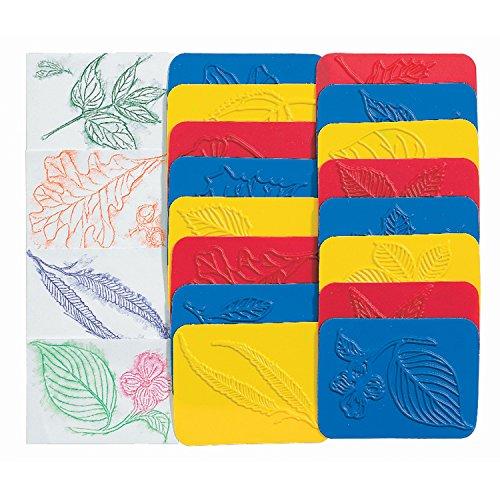 Roylco R-5815BN Rubbing Plates Leaf, Grade Kindergarten to 1, 2