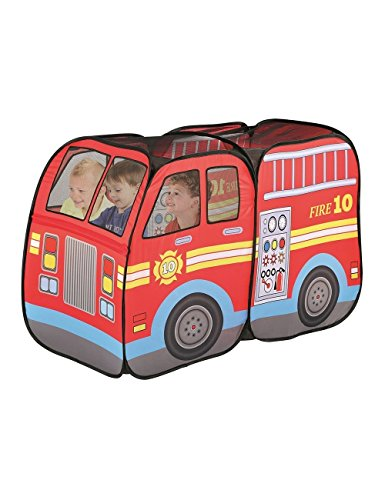 Fire Truck Engine Pop-Up Play Tent. Playtent House Can be Used Indoors or Outdoors PlayHouse Toys for Kids Engine House