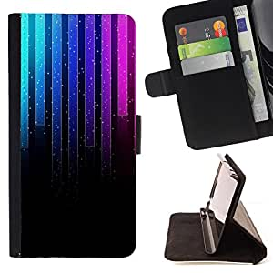 DEVIL CASE - FOR LG G2 D800 - Music Neon Graph - Style PU Leather Case Wallet Flip Stand Flap Closure Cover