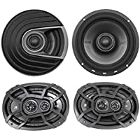 (2) Polk Audio MM652 6.5 600 Watt Car Audio Speakers+(2) Kicker 6x9 Speakers