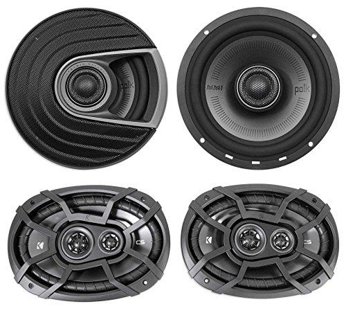 Polk Audio MM652 6.5 600 Watt Car Audio Speakers+ Kicker 6x