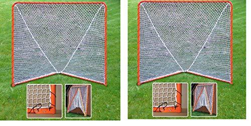 EZGoal Lacrosse Folding Goal, 6 x 6-Feet, Orange (2-Pack)