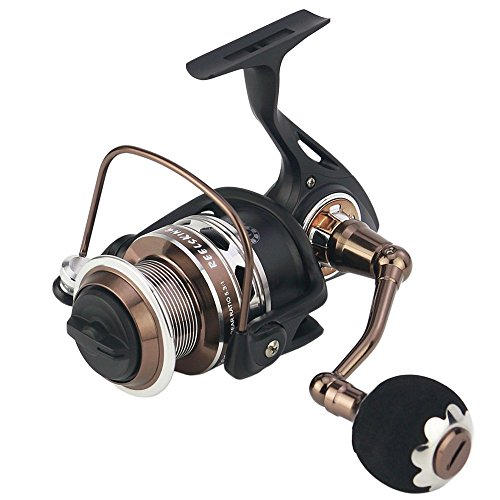 - Reelsking Fishing Spinning Reel, All Metal Frame, Super Smooth, Max 50 lbs Drag, 13+1 Corrosion Resistant Bearings, Sealing and Waterproofing, Carbon Fiber Drag System, RX 8000