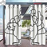covered patio ideas BlountDecor Outdoor- Free Standing Outdoor Privacy Curtain Turkey Idea for Front Porch Covered Patio Gazebo Dock Beach Home W96 x L84/Pair