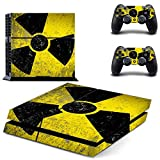 Caution - PS4 Skin Console and 2 Controller, Vinyl Decal Sticker Full Cover Protective by Teemeow