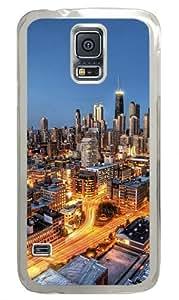 Chicago City Skyscrapers Custom Samsung Galaxy S5/Samsung S5 Case Cover Polycarbonate Transparent