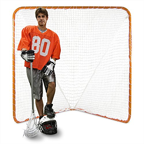 Portable Official Size Orange Lacrosse Goal - Large 6 x 6 x 7 Foot Size! by Brybelly (Image #2)
