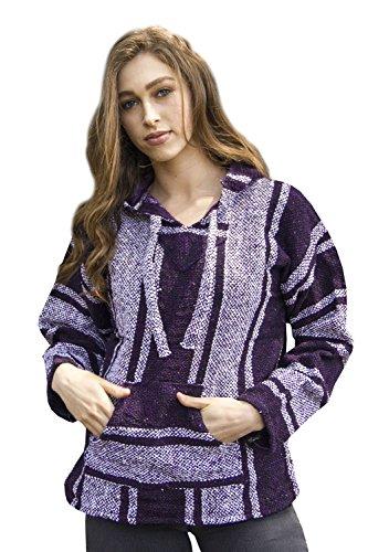 Purple Mexican Baja Jerga Hoodie Unisex (Medium)
