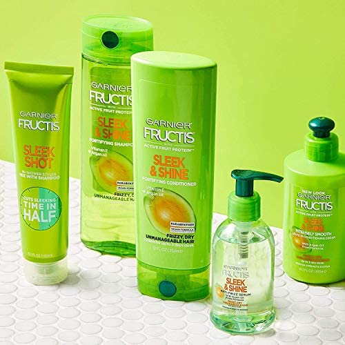 Amazon.com : Garnier Hair Care Fructis Sleek and Shine Shampoo, Conditioner, and Moroccan Argan Oil Treatment, For Frizzy, Dry Hair, Paraben Free, 1 Kit : Beauty