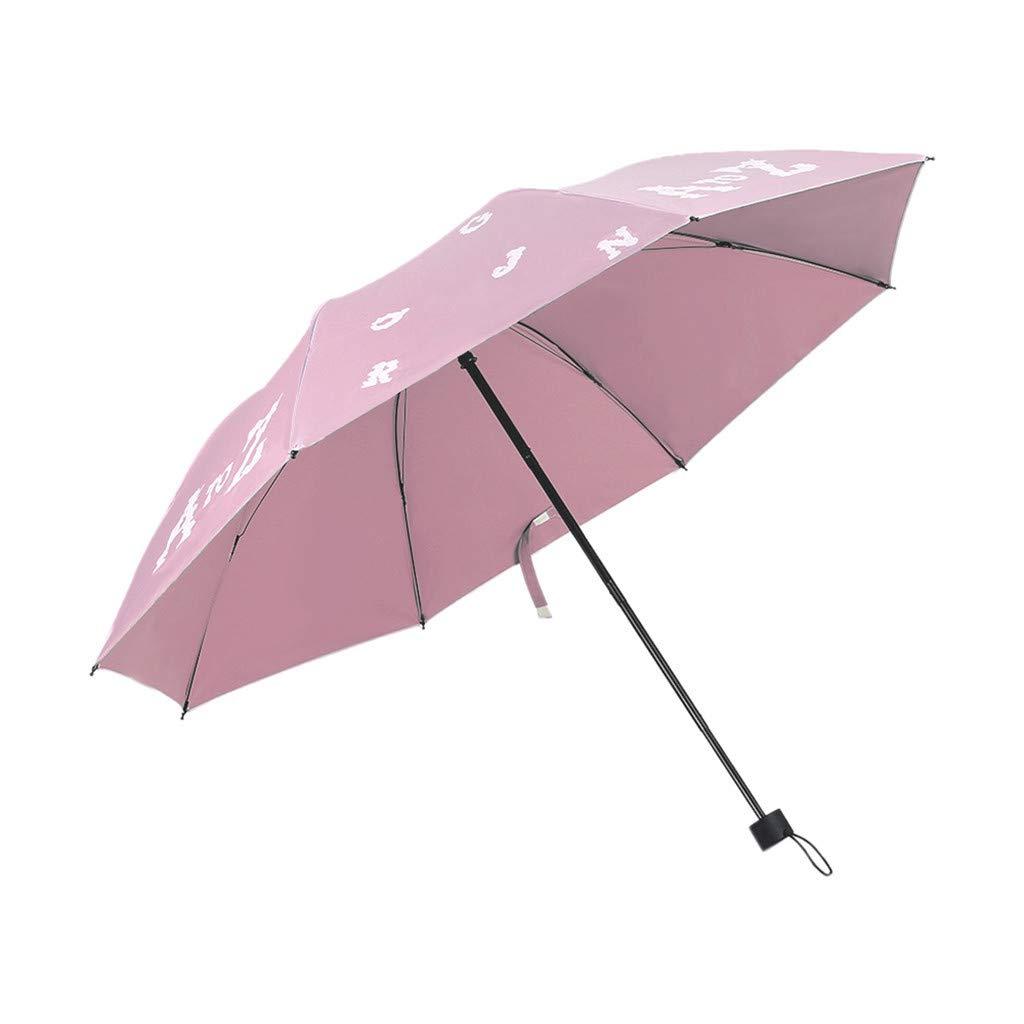 vijTIAN Paraguas Plegable de Doble Uso para Lluvia y Lluvia ...