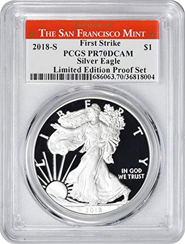 2018 S American Silver Eagle Limited Edition Proof Set, First Strike, Struck at San Francisco Label Dollar PR70DCAM PCGS