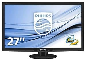 """Philips Monitores 273E3LHSB/00 - Monitor de 27"""" (resolución 1920 x 1080 pixels, tecnología WLED, contraste 1200:1, 1 ms, VGA), color negro"""