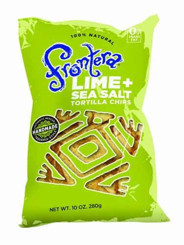 Frontera Sea Salt and Lime Tortilla Chips, 10-Ounce (12 Pack) - Frontera Tortilla Chips