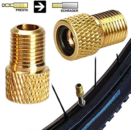 ZZLife 3pcs Brass Presta to Schrader Bike Bicycle Valve Adapter Converter...