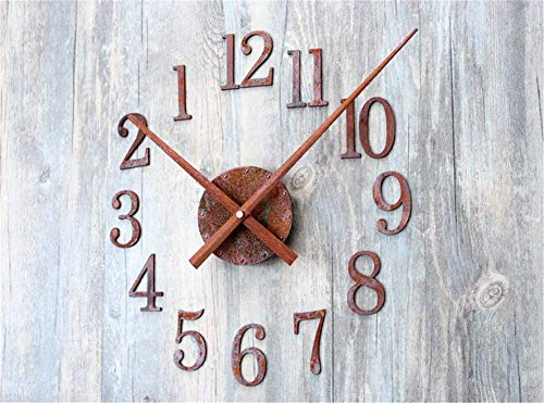 Amazon.com: YYMCD DIY Mute Wall Clocks, Metal Oxide Retro Style Large Clock 3D Stickers Decoration for Office Room: Home & Kitchen