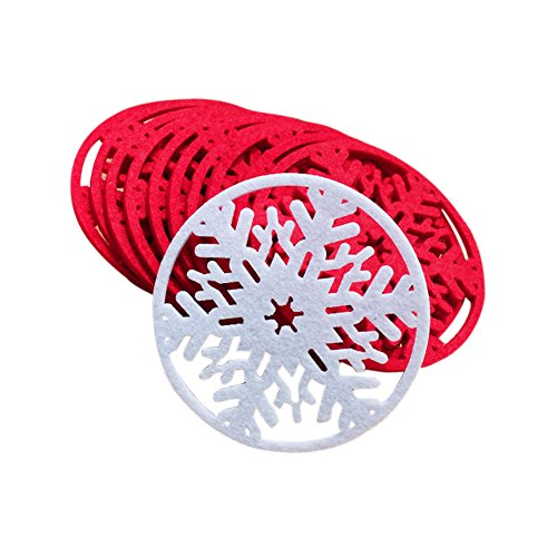 10 PCS/Lot Cup Coffee Tea Pad Cute Snowflake Insulation Mat Light Weight Heat Pad Adorable Christmas Product