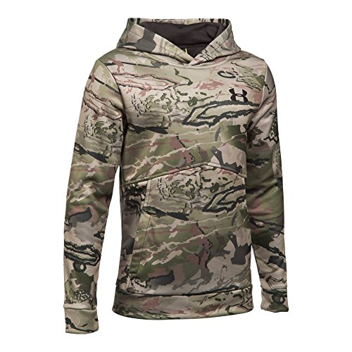 Under Armour Boys' Icon Camo Hoodie,Ridge Reaper Camo Ba (903)/Cannon, Youth X-Large (Camo Hoodies Under Armour)