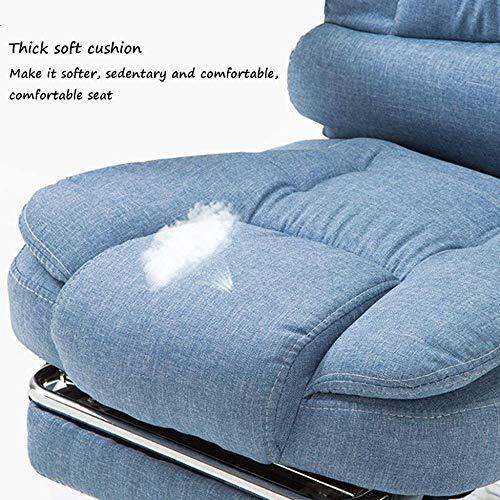 Datorstol, hem modern kontorsstol liggande rygg chef stol fritid lyft tyg svängbar stol 53 x 65 x 101 cm knästol