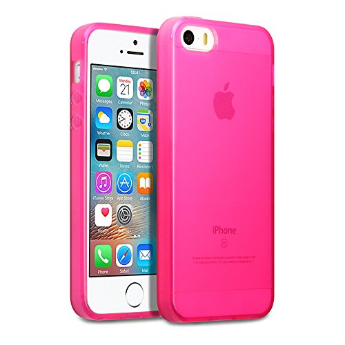 Coque iPhone SE, Terrapin Étui Coque en Gel TPU pour iPhone SE Housse - Rose