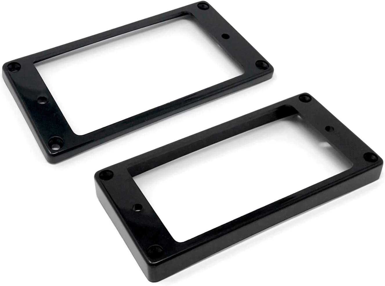 Vintage Forge Black Curved Bottom Humbucker Pickup Mounting Ring Set (Bridge & Neck) for Epiphone Guitars HR1800C-BLK