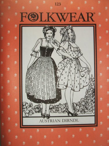 Folkwear #123 Austrian Dirndl German Regional Sewing Costume Pattern