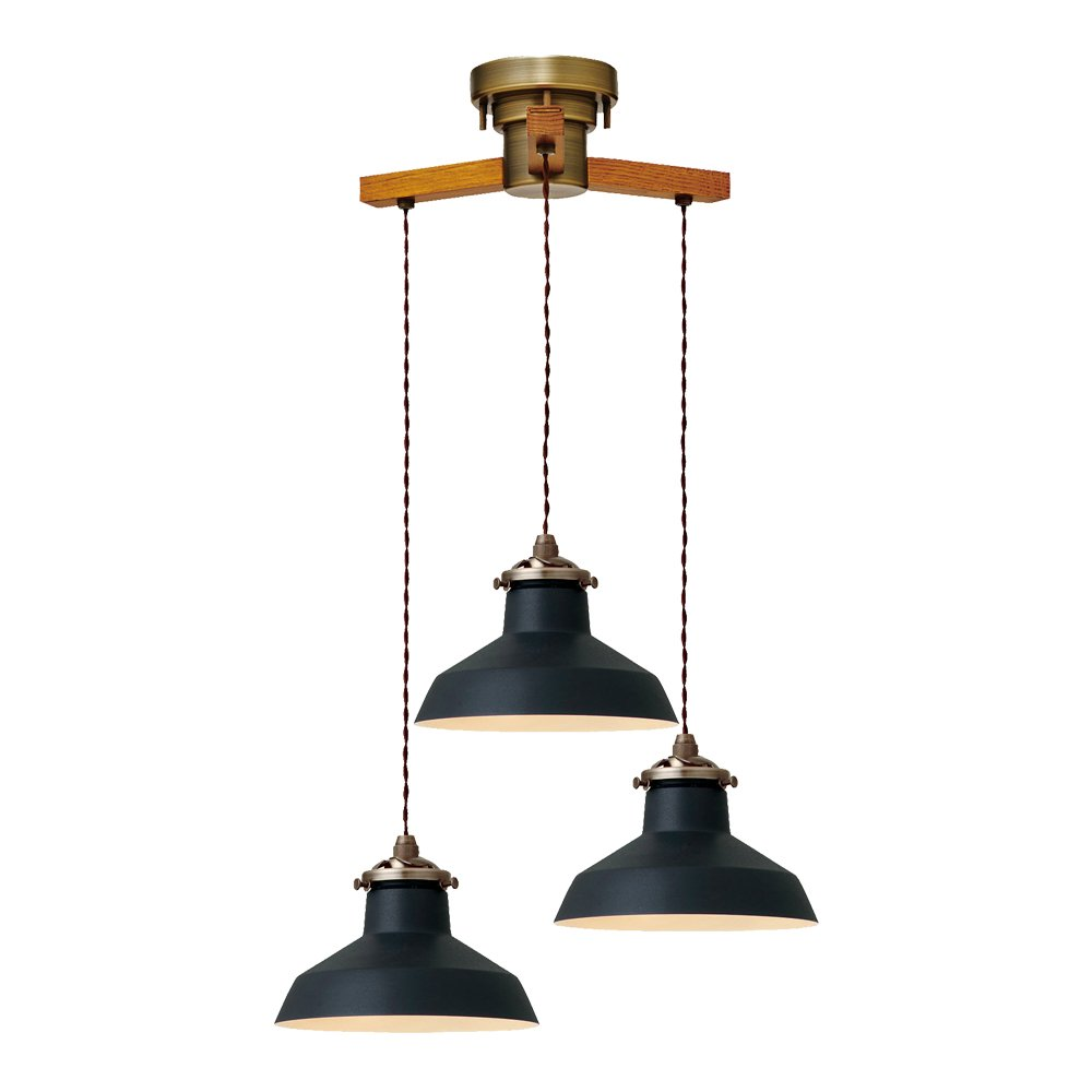ペンダントライト 3灯 LED電球付属 Gien -dangle 3- - ジアン -ダングル3- - アイボリー 4.5畳~6畳 LT-1934IV インターフォルム(INTERFORM) B01M07M8L1 アイボリー