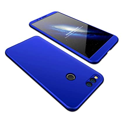 JMGoodstore Funda Compatible Huawei Nova 2,Carcasa Huawei Nova 2,360 Grados Integral Ambas Caras+Cristal Templado,[ 360°] 3 in 1 Slim Dactilares ...