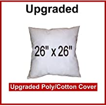 "Pillow Inserts 26"" x 26"" Square -Poly/Cotton Shell (Polyfill)"