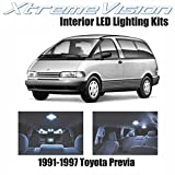 XtremeVision Toyota Previa 1991-1997 (3 Pieces) Cool White Premium Interior LED Kit Package + Installation Tool