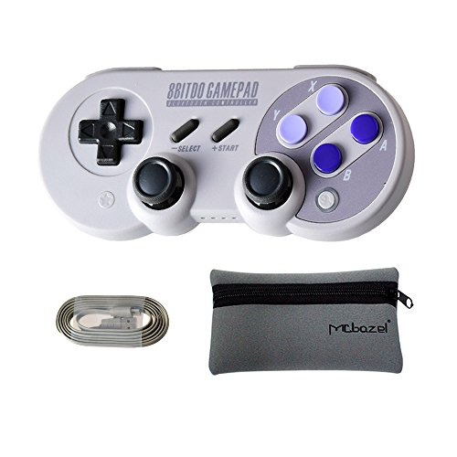 Mcbazel 8Bitdo SN30 Pro Bluetooth Wireless Controller for NS Switch/Windows / Android/Macos / Stream – With Mcbazel Storage Bag