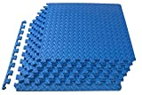 ProsourceFit Puzzle Exercise Mat, EVA Foam Interlocking Tiles, Protective Flooring for Gym Equipment and Cushion for Workouts, Blue