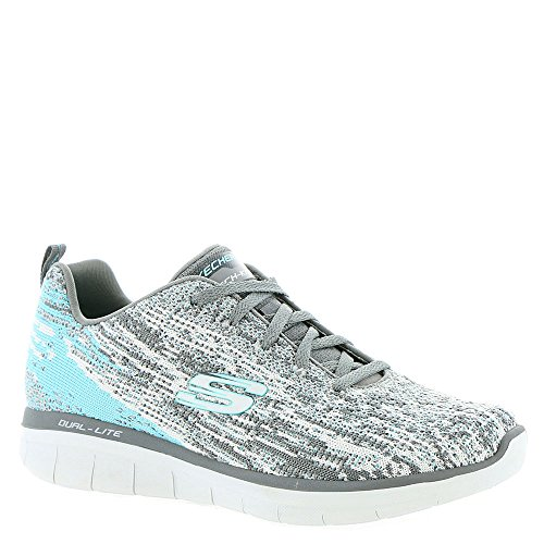 Damen 0 Synergy 2 Grau Sneaker Skechers Spirits High Weiß t5dqRw