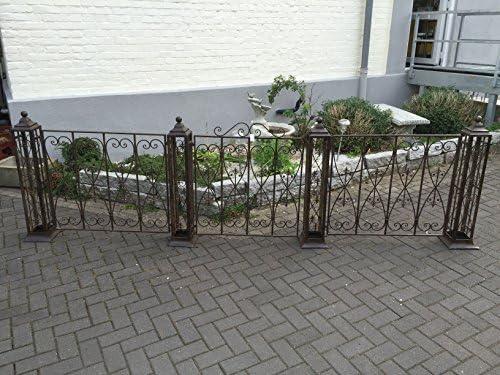 Puerta verja de jardín puerta valla hierro jardín estilo envejecido L: 338 cm: Amazon.es: Juguetes y juegos