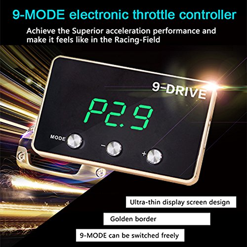 Lanlan Electronic Throttle Accelerator Electronic Throttle Accelerator 9 Mode Throttle Controller for Modify Tune Grooming Maintain Refit Auto Gas Pedal Booster