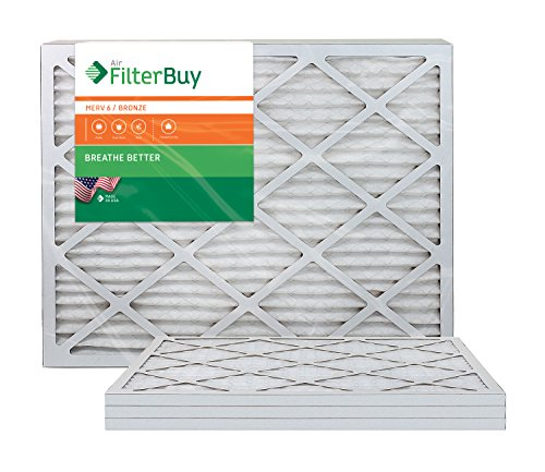AFB Bronze MERV 6 12x36x1 Pleated AC Furnace Air Filter. Pack of 4 Filters. 100% produced in the USA. by FilterBuy