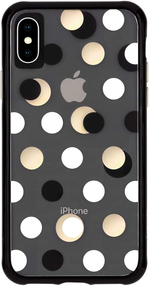 Amazon Com Case Mate Iphone Xs Max Case Wallpapers Iphone 6 5 Black Metallic Dot Model Cm038139
