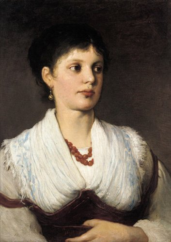 Max Gabriel Cornelius von A portrait of a woman in native costume 100% Hand Painted Replica Oil Paintings 20X28 ()