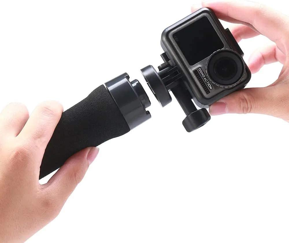 Color : Black Opbsite Protable Selfie Stick Holder for Travel ULANZI U-11 Floating Floaty Selfie Stick for GoPro Hero Eken Xiaomi Xiaoyi Mijia DJI OSMO Action Sports Camera